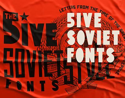 Five Soviet Fonts
