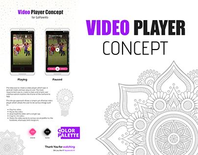 Video Player Concept - GoParento   UI Design