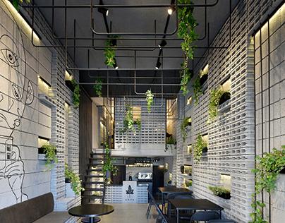 Ivy cafe in Mazandaran, Iran designed by Neda Mirani