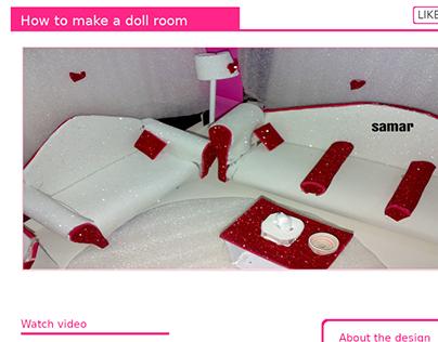 Miniature doll room - Article page (Handmde website)