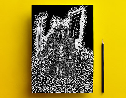 Samurai Spawn | pen drawing | 2014