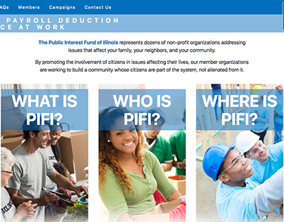 Public Interest Fund of Illinois (PIFI) Website