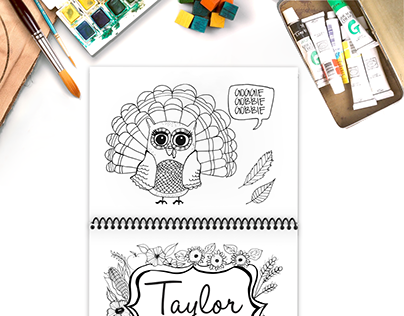 Thanksgiving Childrens Coloring Book