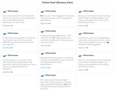 social media twitter feed on wordpress website(ess-add)