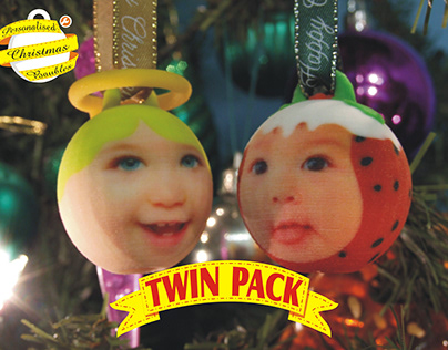 3D Printed Christmas Baubles, Angel & Puddin