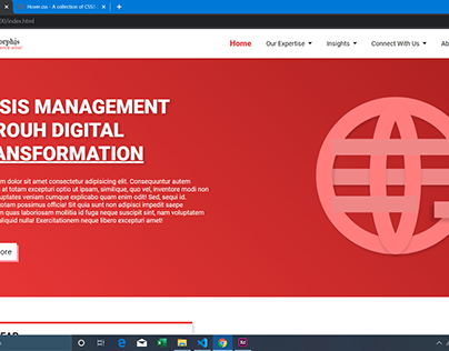 Website Design Using HTML,CSS And Bootstrap4