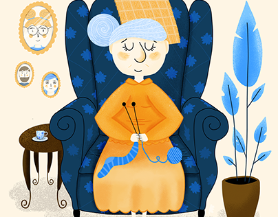 Christmas Charity Landing Page with Illustrations