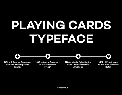 """PLAYING CARDS """"TYPEFACE"""""""