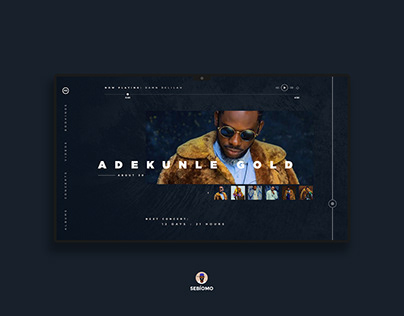 Landing Page for Adekunle Gold