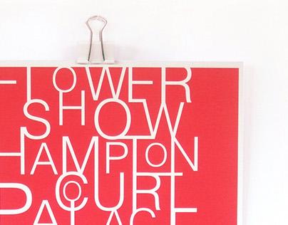 Projekt afiszu Flower Show Hampton Court Palace