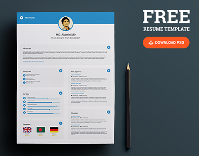 free resume with business card on behance. Resume Example. Resume CV Cover Letter
