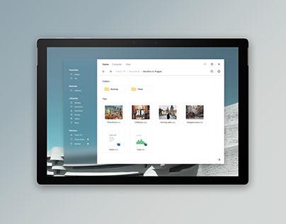 Windows File Explorer - Fluent design