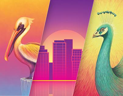 Series of Illustrations for Envelope Design