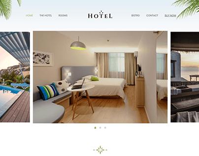 Hotel Landing Page with Wordpress Elementor BeThemes