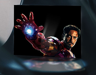 Tony Stark in Low Poly style