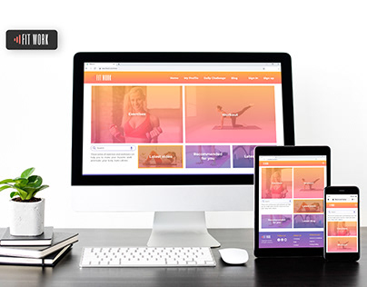 Fitness responsive web app - FitWork
