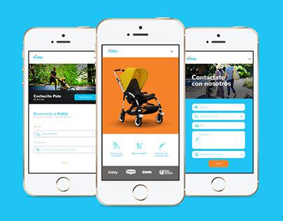 Kiddy Strollers – Website Design Concept