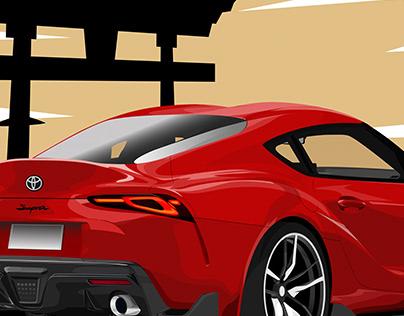 Toyota supra vector art