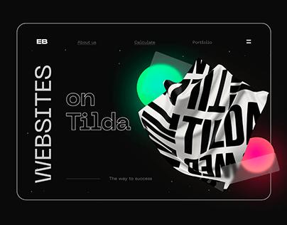 Creative website for an IT company on Tilda