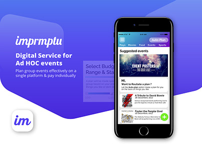 Imprmptu | Digital service for Ad Hoc group events