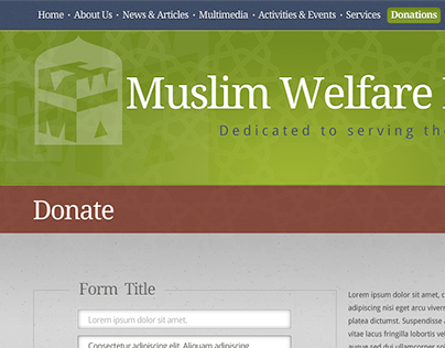 Muslim Welfare House Unused Concept