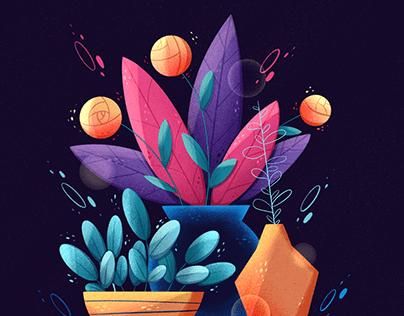 Bright enchanted illustrations