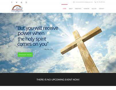 Church on the rock - Sri Lanka website developments