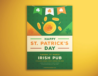 Happy St. Patrick's Day Flyer