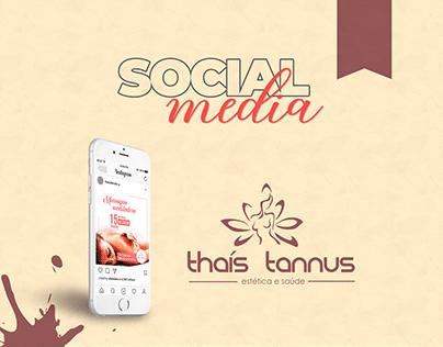 Campanha Social Media Thaís Tannus - Estética e Saúde