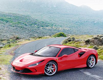 Ferrari F8 Tributo 2020 3D Rendering