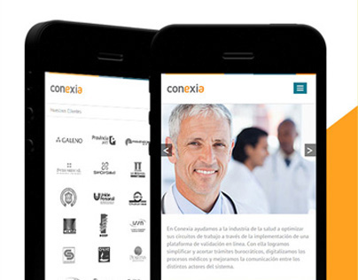 Conexia - WebSite & Mobile Site