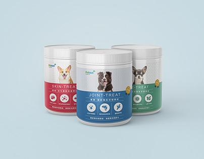 Petreat 沛睿德・Pet health care package design 保健嚼錠包裝