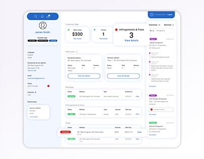 Dashboard Wireframe for Customer Service Portal