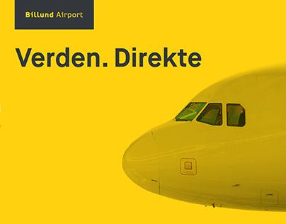 """Billund Lufthavn - """"Verden. Direkte"""""""