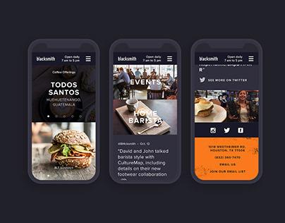 Blacksmith Coffee Website