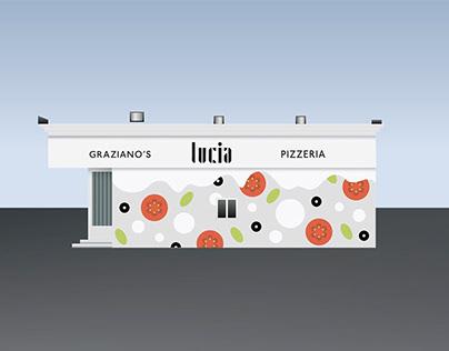 Lucia Pizzeria Mural