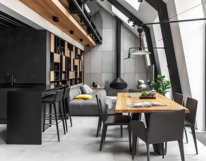Two-level apartment in Moscow
