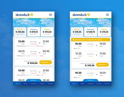 Cheap Flights (result outcome) - mob design