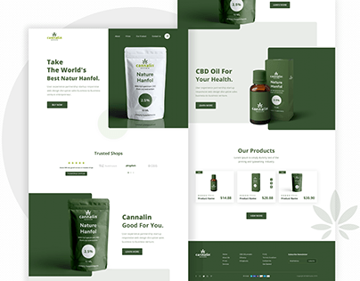 Cannalin: CBD OIL Product Landing Page