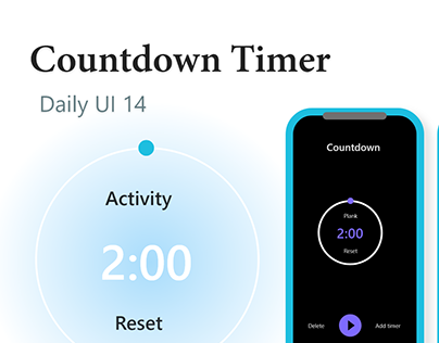 Countdown Timer - Day 14, Daily UI Challenge