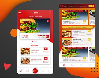 Food ordering App Design