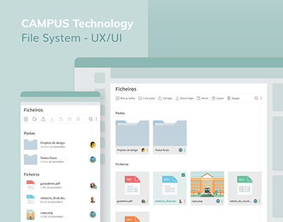 File System for Campus Technology - UI Design