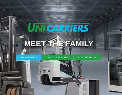 Website for Unicarriers general distributor VIST