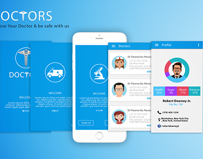 Doctors Life Mobile Application UI
