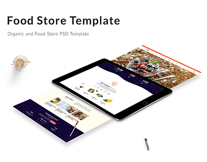 Organic and Food Store Template