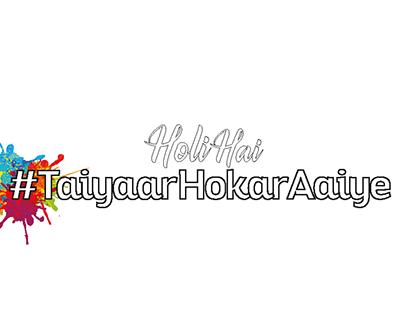 Holi artwork for Manyavar Mohey stores