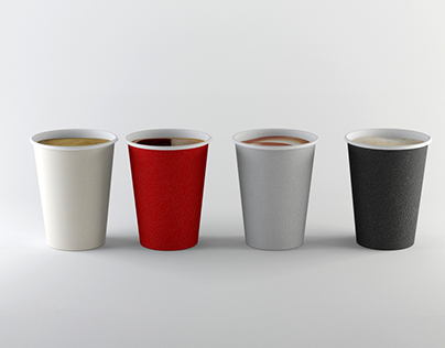 Paper Cup Set / 3ds Max - Vray