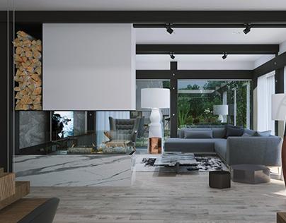 Liikola Club. Interior design 1st floor