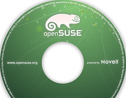 Cover printable DVD for openSUSE operating system