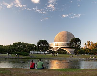 Sunset at the Planetarium